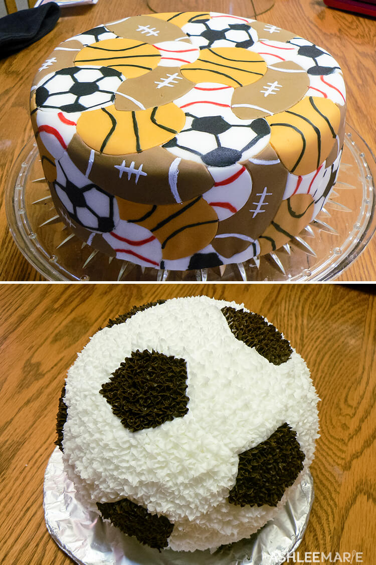 sports ball birthday cakes