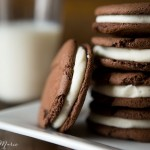 homemade oreo cookie sandwiches