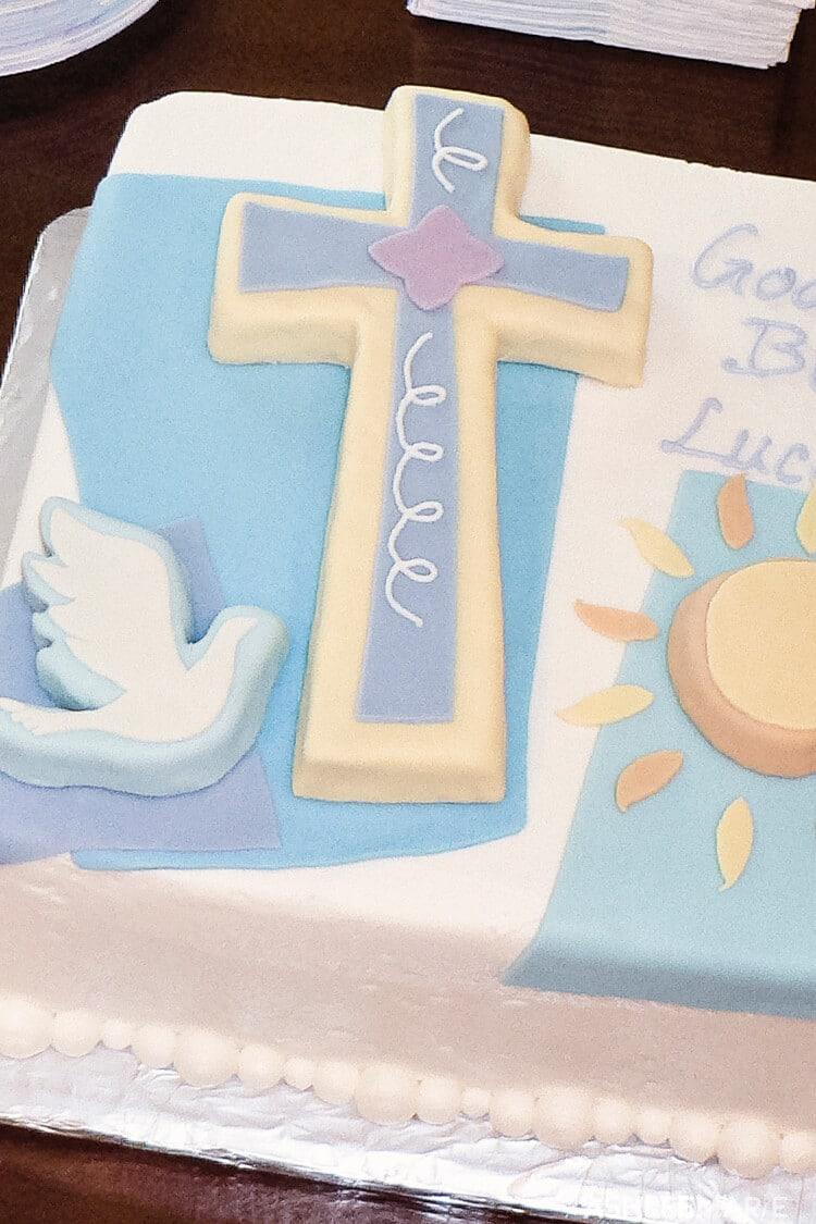 christening cake