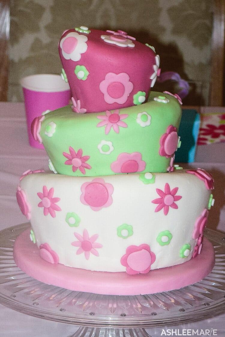 fondant topsy turvy cake