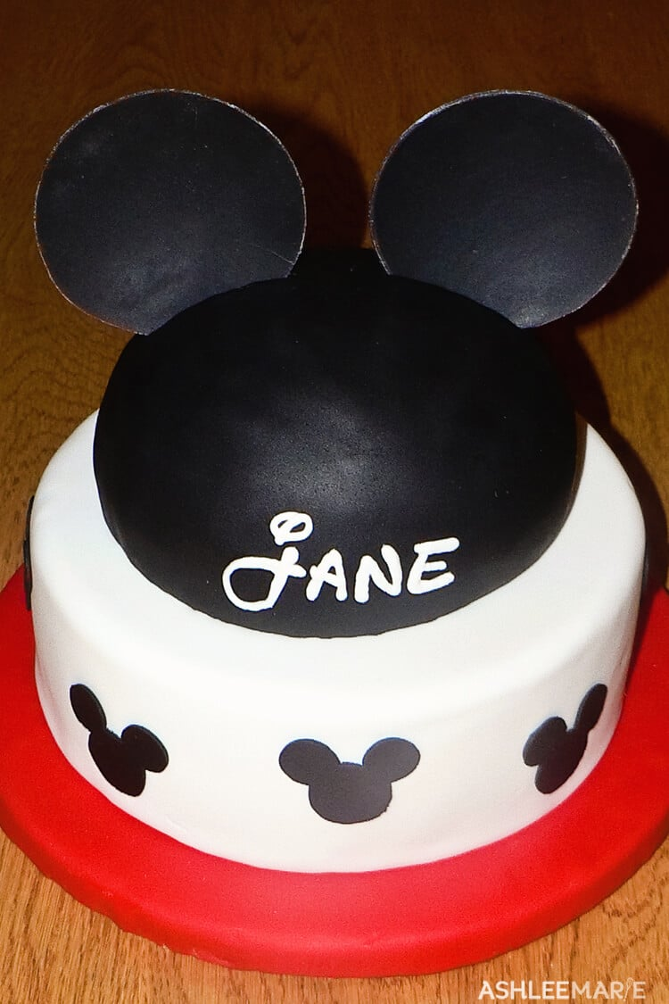 mickey ears birthday cake
