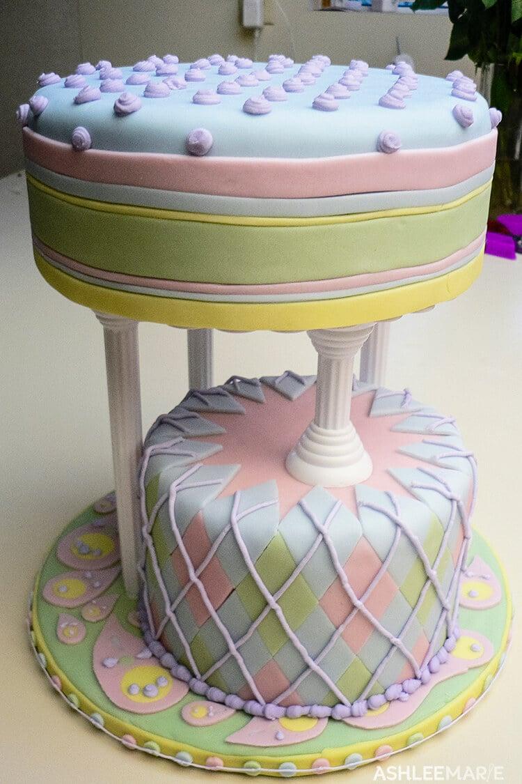 multi designed fondant cake