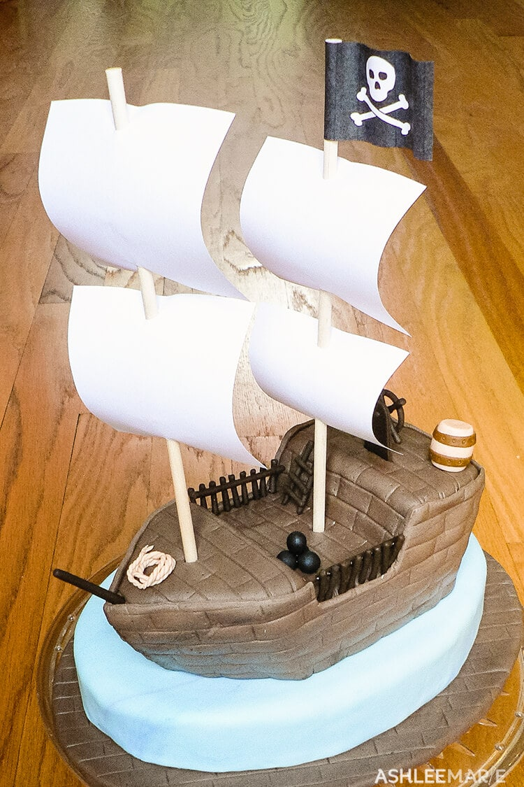 Amazing Pirate Ship Cake Ashlee Marie Real Fun With Real Food Birthday Cards Printable Riciscafe Filternl