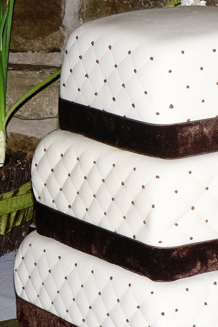 quilted wedding cake three teirs