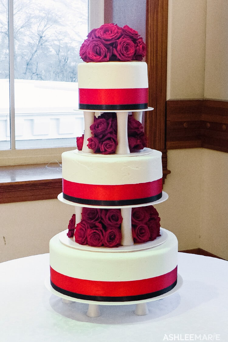 three teir wedding cake