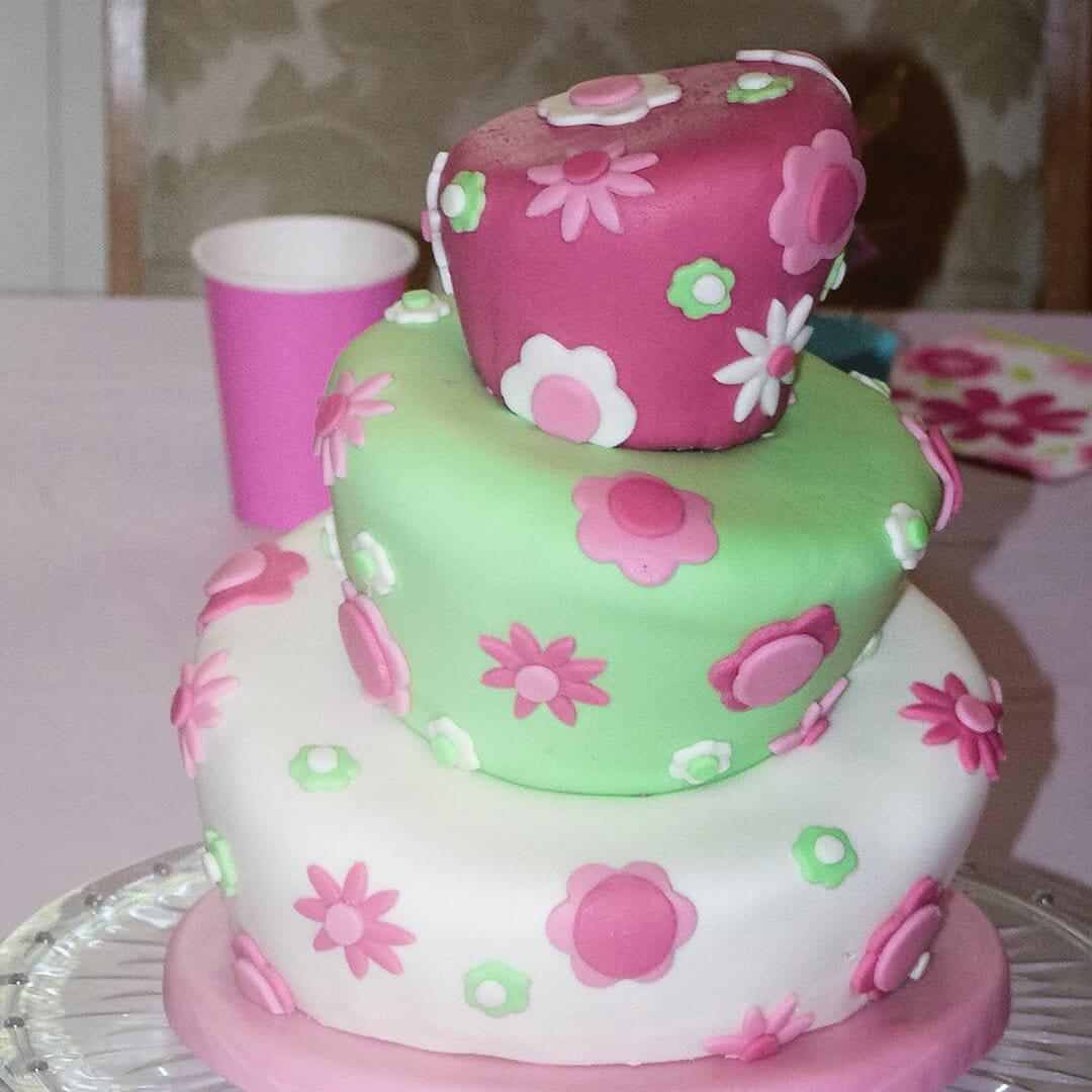topsy turvy 1st birthday cake
