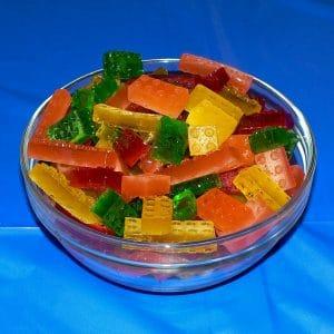 gelatin lego gummies