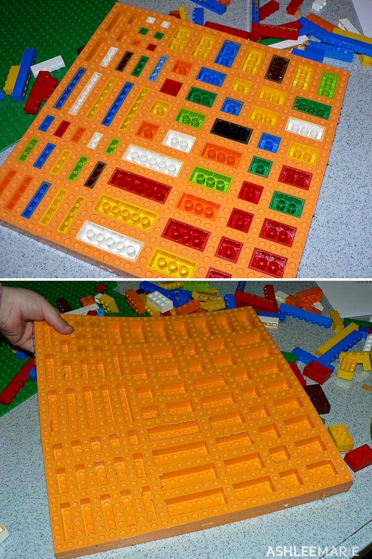 making a lego silicone mold
