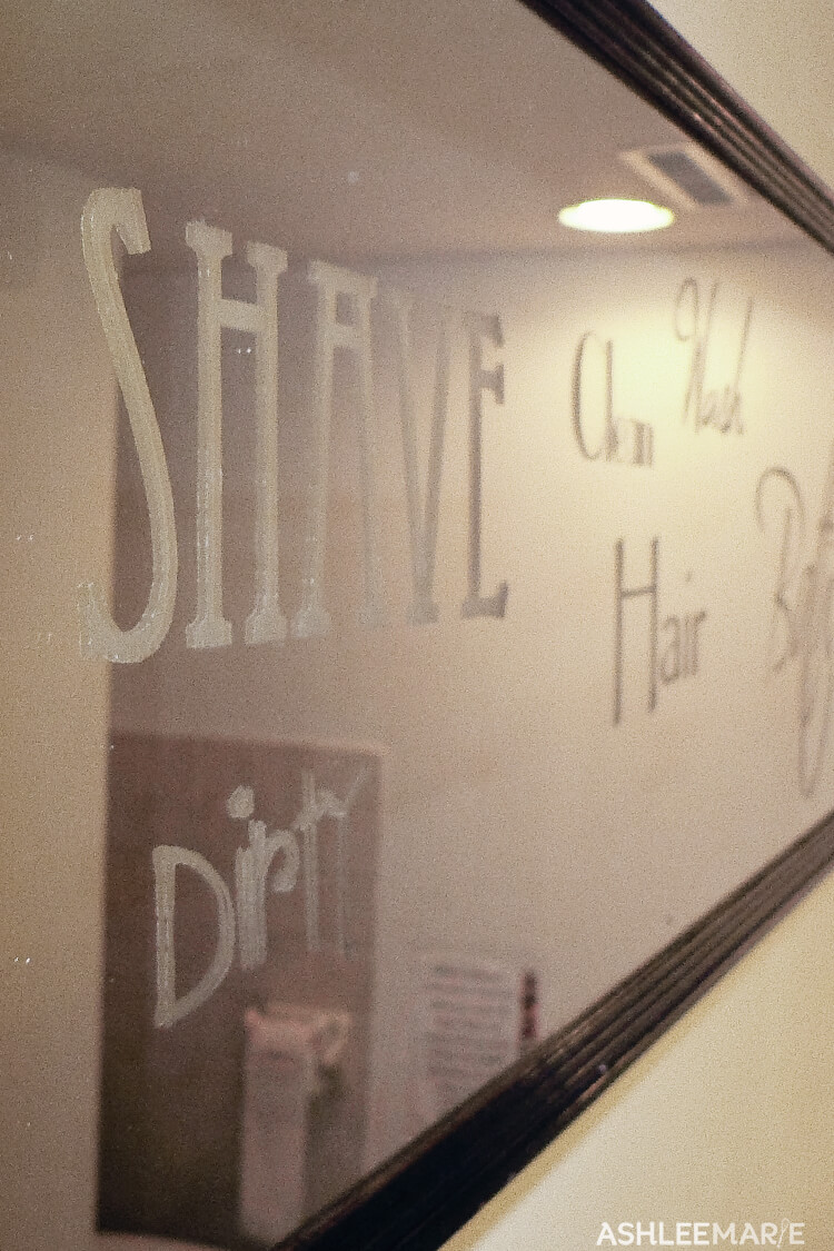 bathroom mirror glass etching