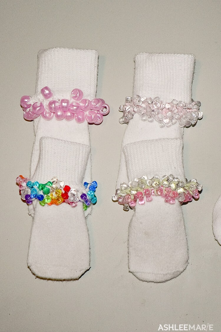 crochet beaded socks