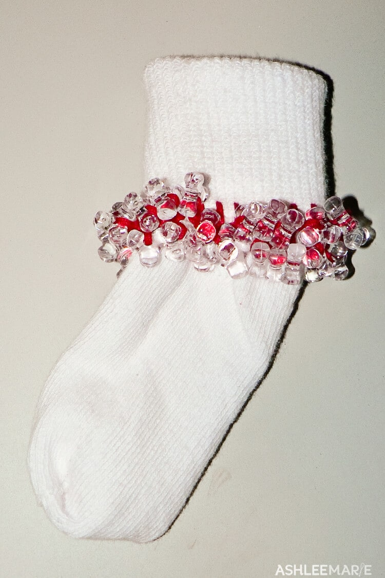easy to make beaded socks