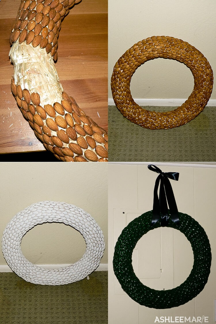 how to make an almond wreath