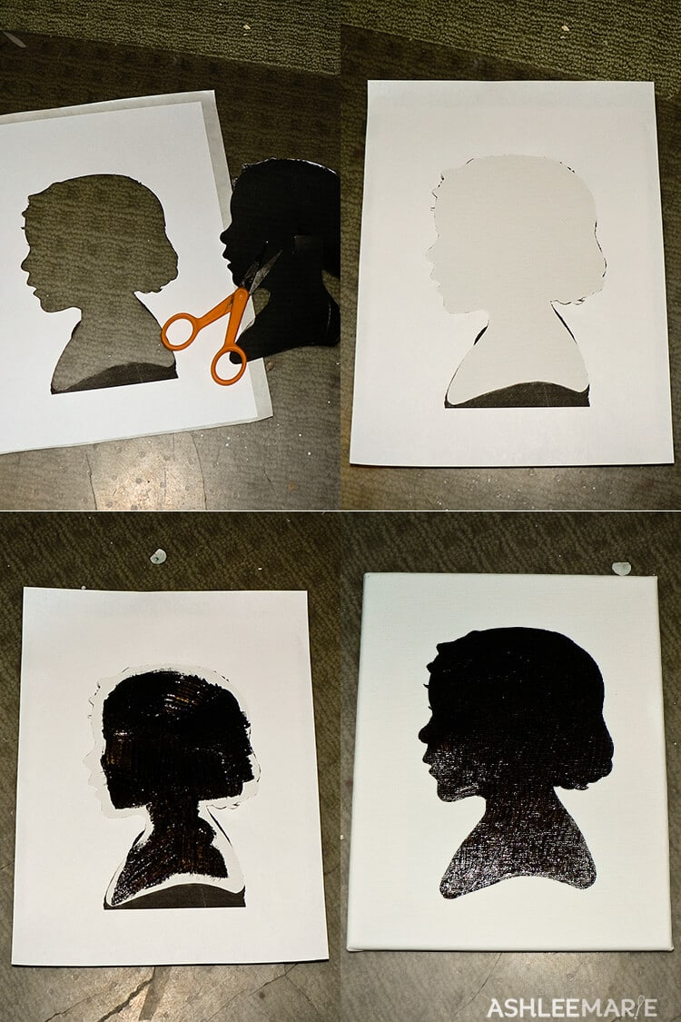 how to make silhouette canvas art