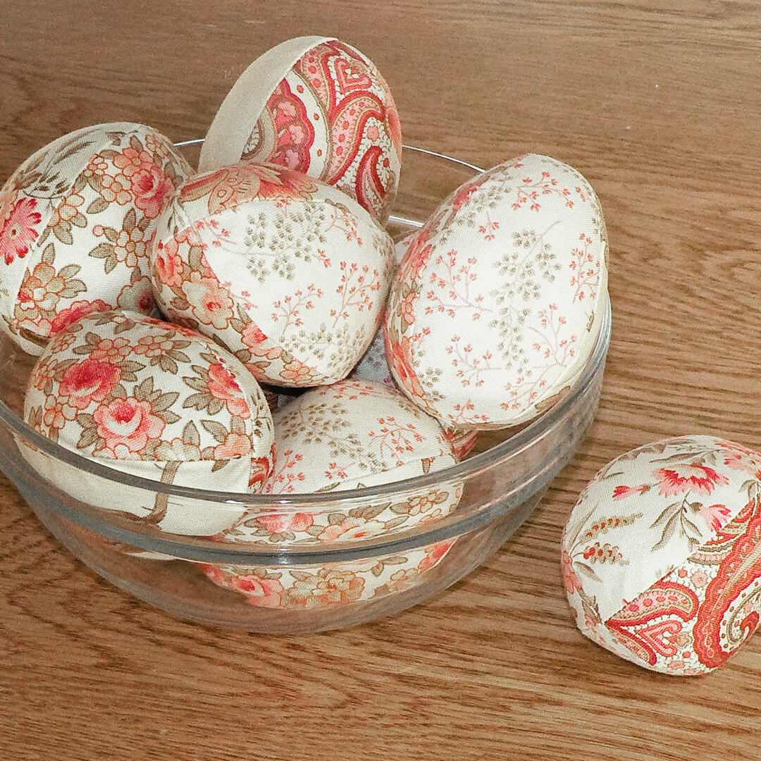 quilted fabric eggs