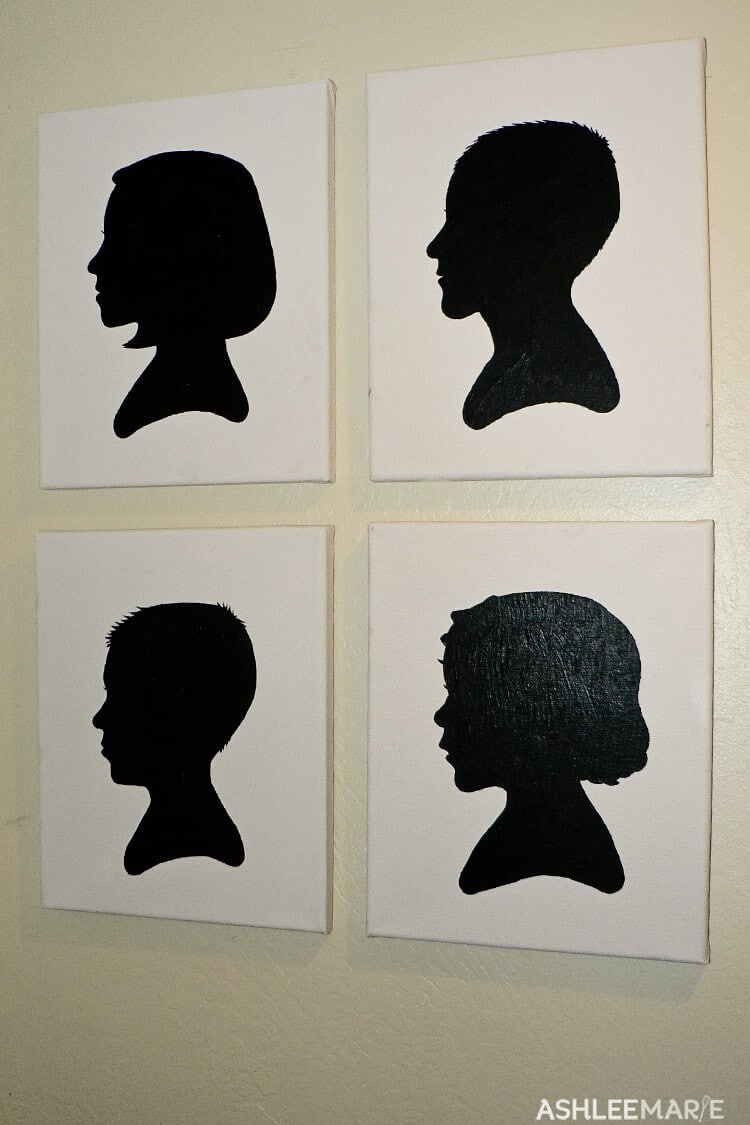 silhouette canvas art
