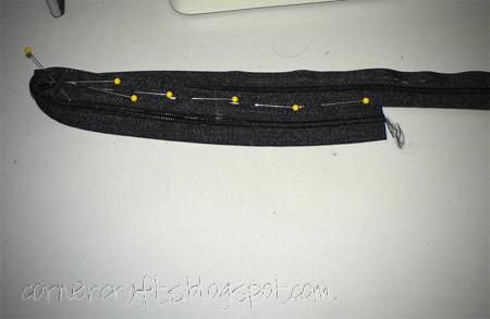 zipper purse sewing starting