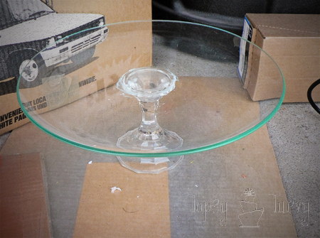 glass plate crystal candlestick cake stand craft gorilla super glue