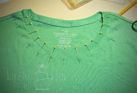 green shirt curls swirls adult kids