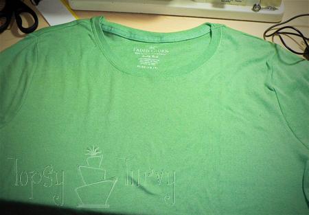 green shirt curls swirls adult kids plain start