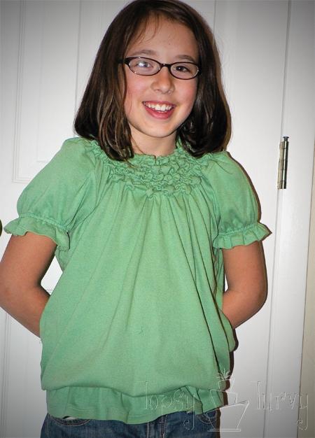 green shirt curls swirls adult kids finished elastic thread