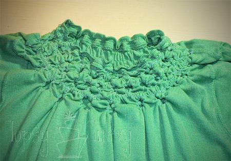 green shirt curls swirls adult kids inside rows