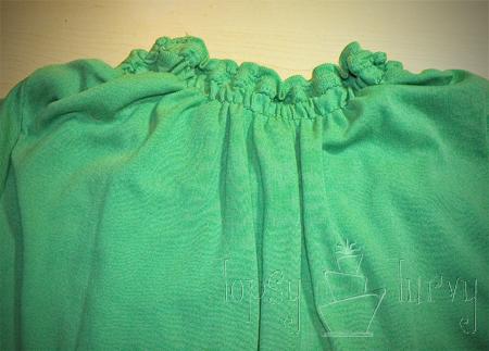 green shirt curls swirls adult kids back