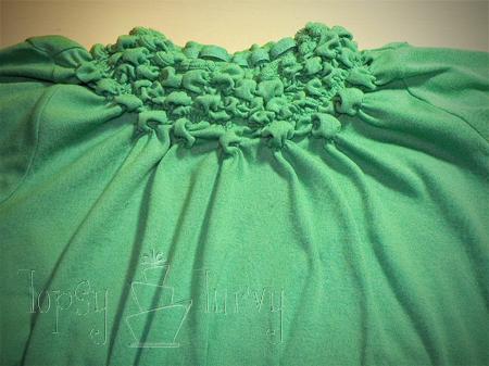 green shirt curls swirls adult kids row 4