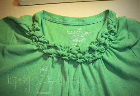 green shirt curls swirls adult kids row 2