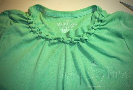 green shirt curls swirls adult kids row one