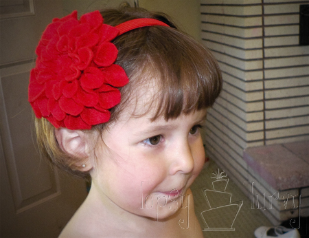 felt flower headband child