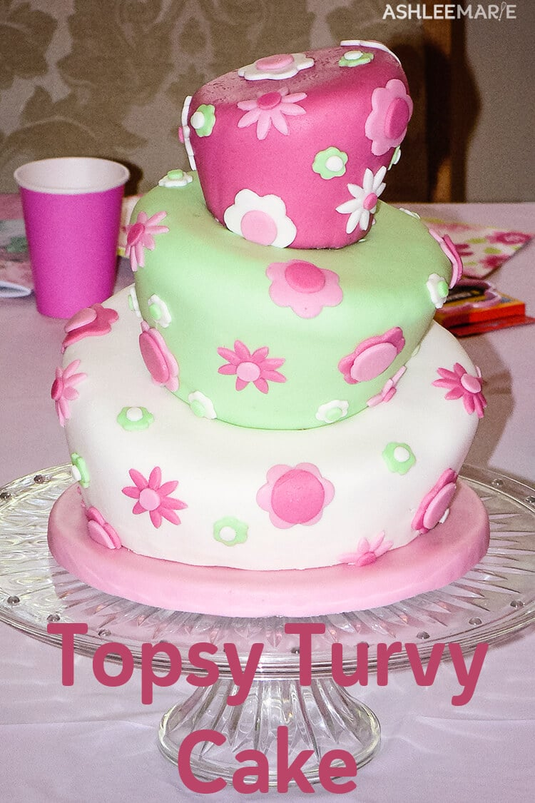 Awesome Topsy Turvy Cake Tutorial Ashlee Marie Real Fun With Real Food Funny Birthday Cards Online Inifodamsfinfo