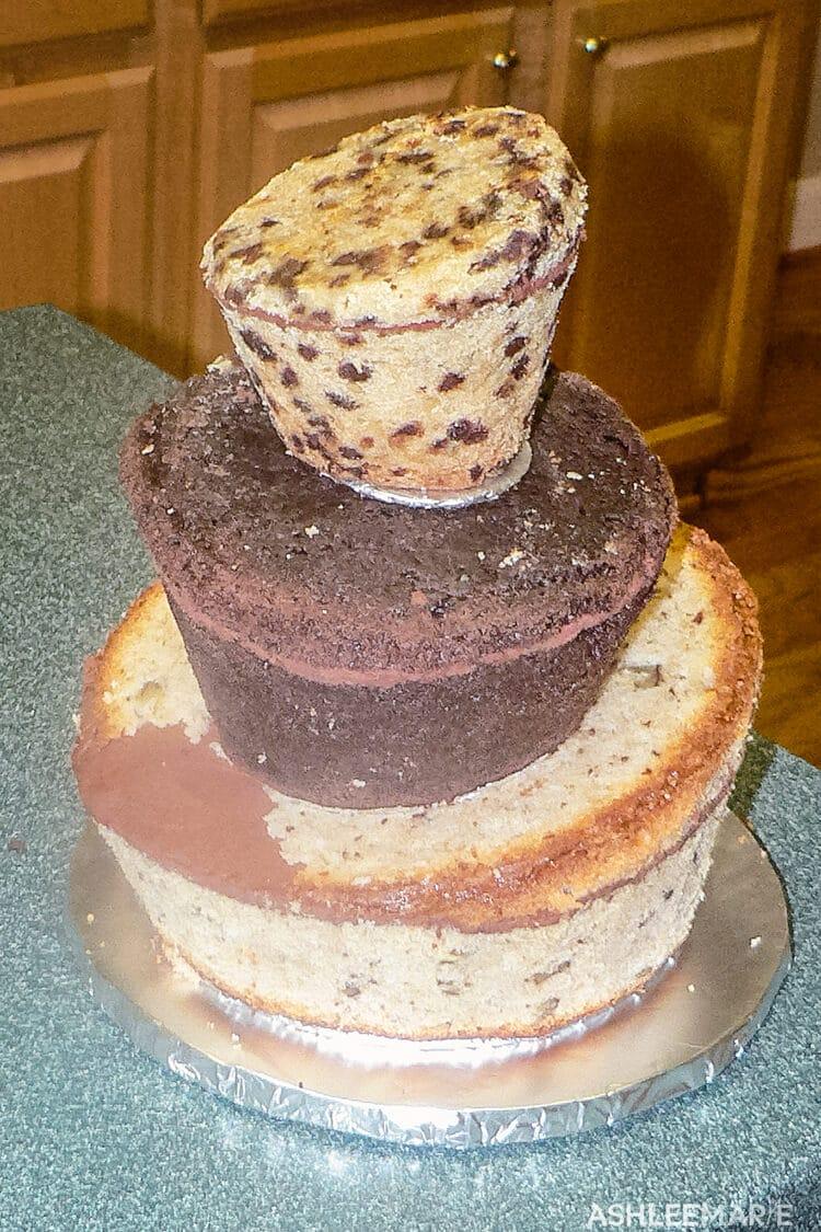 topsy turvy cake without fondant