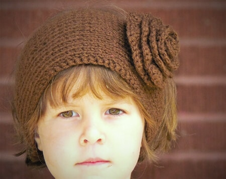 Knit Flower Ear Warmer Headband Patterns Patterns Kid