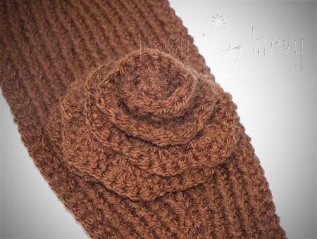 Knitting Patterns For Ear Warmers With Flower : Knit Ear Warmer Pattern with Flower Crochet Ashlee Marie