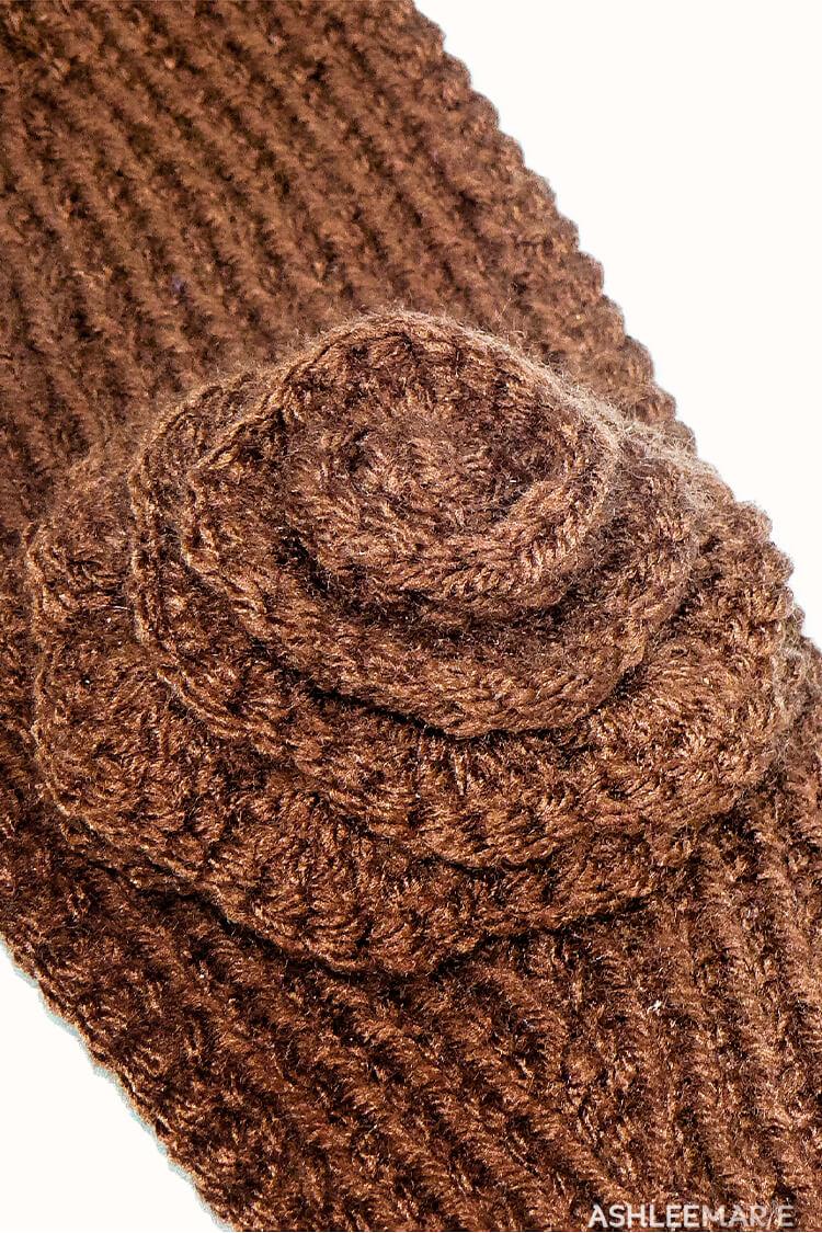 Knit Ear Warmer Pattern with Flower Crochet | Ashlee Marie - real ...