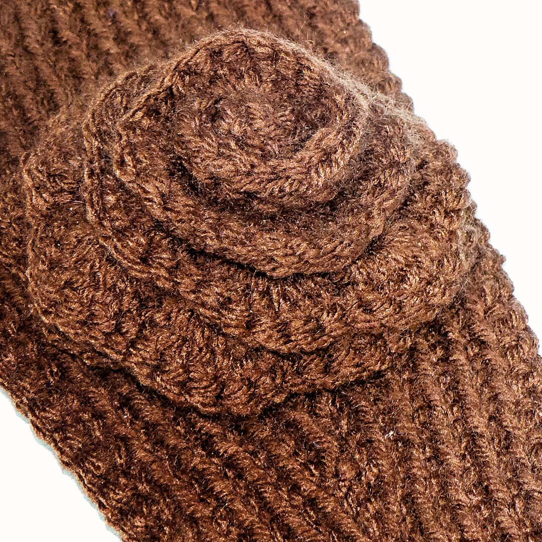 1e6b441aa87 Knit Ear Warmer Pattern with Flower Crochet