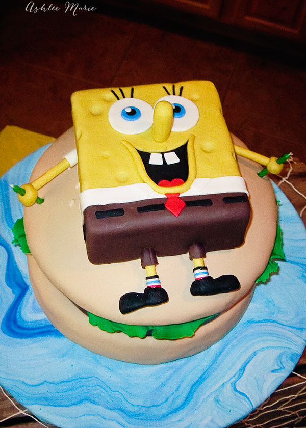 Pleasing Spongebob Krusty Burger Birthday Cake Ashlee Marie Real Fun Funny Birthday Cards Online Aeocydamsfinfo