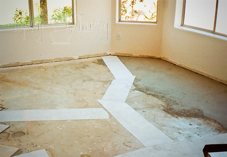preparing cement floor for tiling
