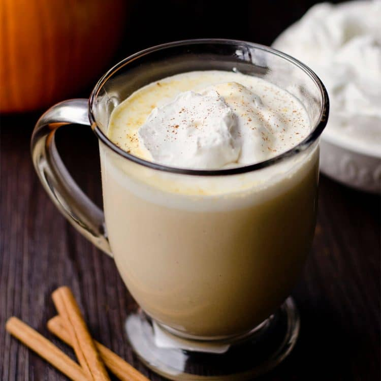 warm creamy pumpkin drink