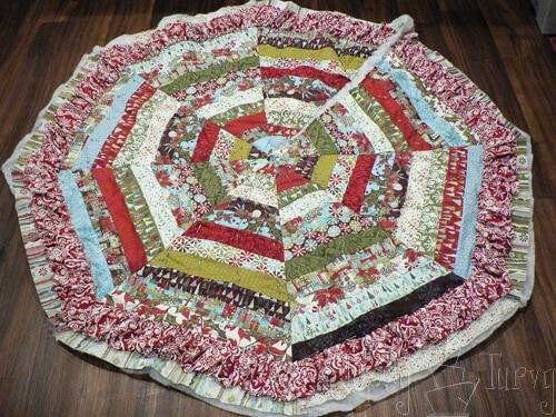 layering back batting tree skirt