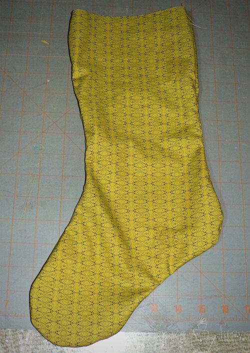 quilted stocking lining