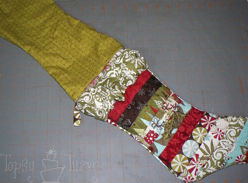 quilted stocking with lining