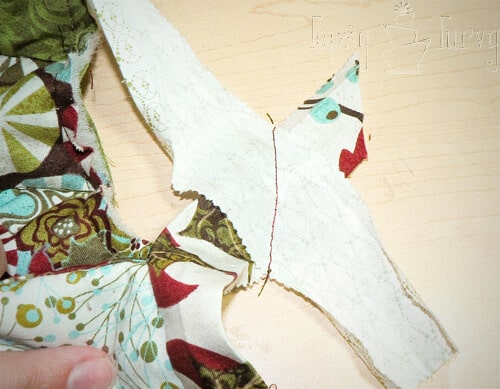 sew the beginning and end of binding