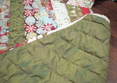 quilted ruffled tree skirt backing