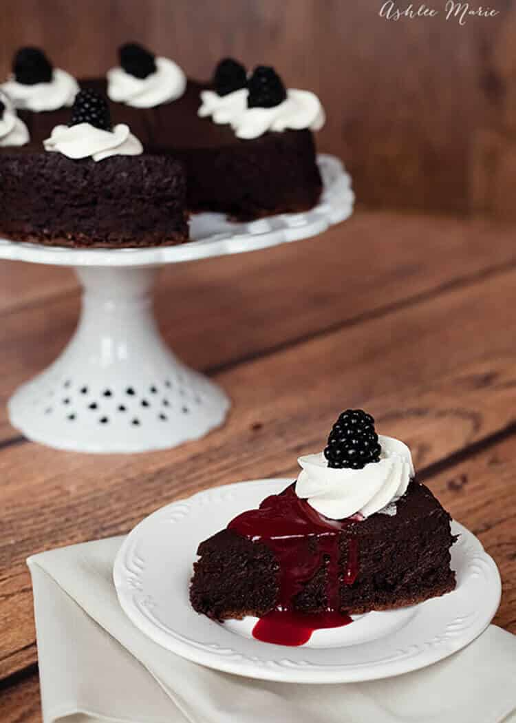 gluten free flourless chocolate cake recipe and video tutorial