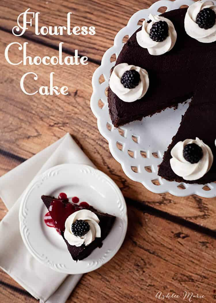 the best flourless chocolate cake you will ever make, rich, dense, creamy and delicious