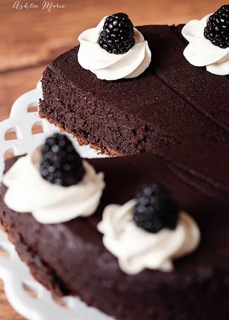 the taste and texture of this gluten free flourless chocolate cake is divine