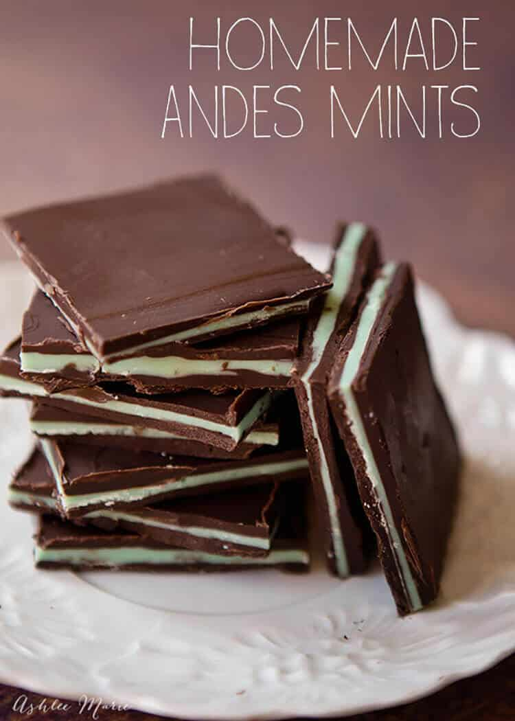 Homemade Andes Mints Ashlee Marie Real Fun With Real Food
