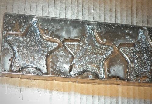 mercury glass star ornaments mirror paint