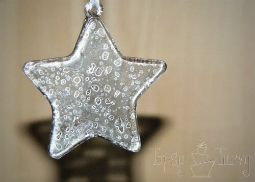 mercury glass star ornaments finished